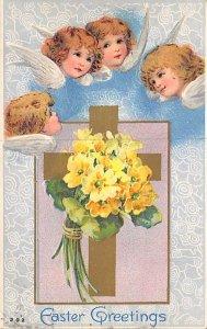 Angel Post Card, Angles Postcard Easter Greetings 1911