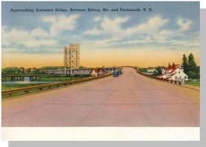 Portsmouth, New Hampshire/NH Postcard, Interstate Bridge