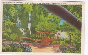 California San Diego Old Town Ramona's Marriage Place Mexican Caretta 1938