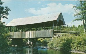 River Road Covered Bridge over Perry Stream near Pittsburg NH, New Hampshire