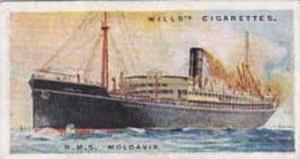 Wills Vintage Cigarette Card Merchant Ships Of The World 1924 No 26 R M S MOL...