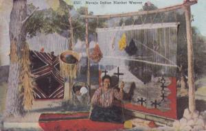 Navajo Indian Blanket Weaver, PU-1943