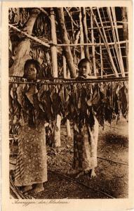 CPA Aanrijgen der bladeren. INDONESIA (169955)