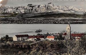 Hagnau am Bodensee Gesamtansicht Kirche, Church Lake Boat Bateau Panorama