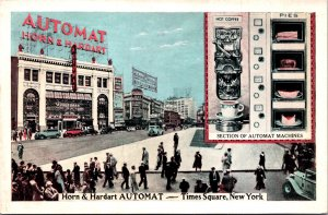 Horn & Hardart Automat coffee pies Times Square NY Canadian Club Strand 30s cars
