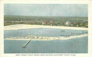 Gulfport Mississippi View Bert Jones Yacht Basin Printing Postcard 21-5971