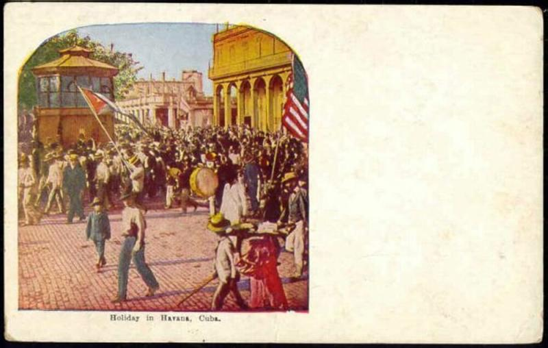 cuba, HAVANA HABANA, Holiday Procession (1940s) (1)