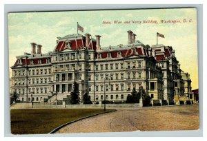 Vintage 1910's Postcard State War & Navy Building Washington D.C. - NICE