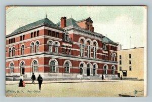 Utica NY, Post Office Building, c1908 Tuck & Son's Vintage New York Postcard
