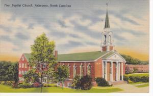 First Baptist Church, Ashboro, North Carolina,  30-40s