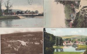 Streatley Hills & Bridge 4x Berkshire Antique Postcard s