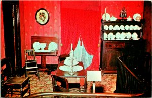 Springfield IL Dining Room Abe Lincoln's Home Postcard unused (21331)