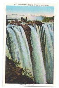 Niagara Falls Postcard Terrapin Point from Goat Isle NY