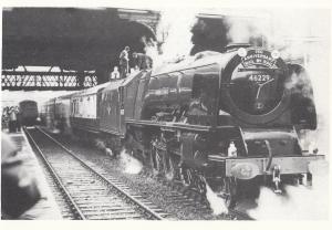 LMS Princess Coronation 4-6-2 Duchess Of Hamilton Manchester Train Postcard