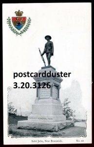 3126 - ST. JOHN New Brunswick 1900s Soldiers Monument. Patriotic Crest