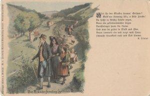 Der Krauterfonntag Goldener Sonntag German Rambling Postcard