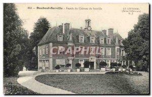 Daubeuf-Serville - Facade du Chateau de Serville - Old Postcard