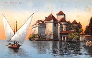 Switzerland Old Vintage Antique Post Card Chateau de Chillon Glue on back