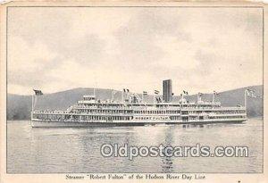 Steamer Robert Fulton Hudson River Day Line Ship Unused