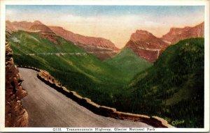 Lot of 4 : Glacier National Park - Logan Pass, Lake , Mountain UNPOSTED POSTCARD