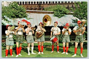 Frankenmuth MI~Bavarian Festival Om-Pah-Pah Band~Sousaphone~Lederhosen~1960s