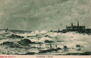Kronborg in Storm,Denmark BIN