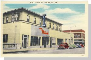 Nice Pulaski, Virginia/VA Postcard,Hotel Pulaski, Near Mint!