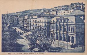 Place Bresson Et Le Theatre, Alger, Algeria, Africa, 1910-1920s