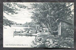 5232 - LAKE HUNTINGTON Sullivan County NY 1909 Postcard by Becker