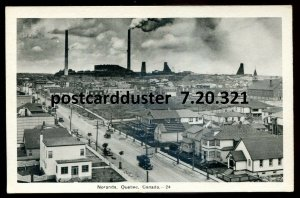 321 - NORANDA Quebec Postcard 1930s Birds Eye View by PECO