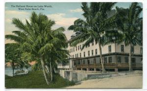 Holland House Lake Worth West Palm Beach Florida 1910s postcard