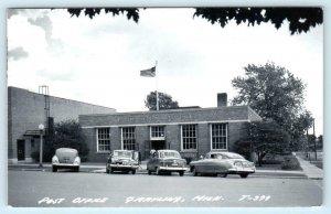 RPPC  GRAYLING, Michigan MI ~  POST OFFICE 1953 Real Photo Postcard