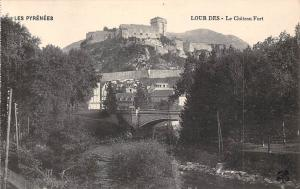 France Les Pyrenees Lour des Le Chateau Fort Castle Schloss