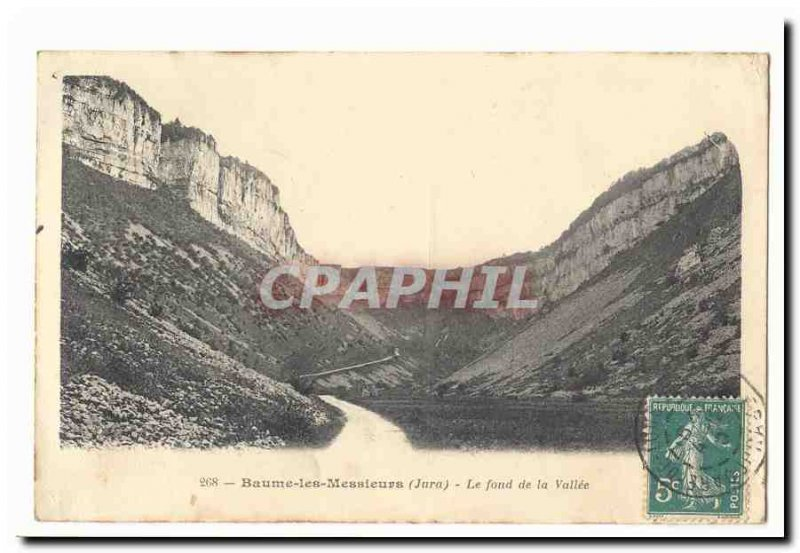 Baume les Messieurs Old Postcard The bottom of the valley