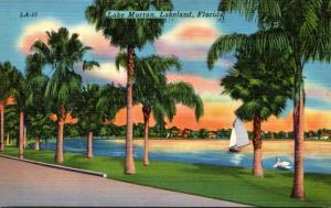 Florida Lakeland Sailing On Lake Morton 1958