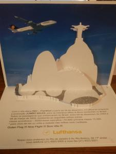 Lufthansa Airplane , Rio Dejaneiro , Brazil , 70-90s ; Pop-up Card