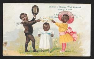 VICTORIAN TRADE CARD Cheney's Wall Cement Black Kids
