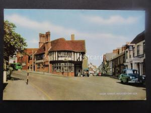 Hampshire MILFORD ON SEA High Street & RED LION c1950's Postcard by Salmon