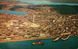 Washington Seattle Aerial View Elliott Bay World's Fair Site