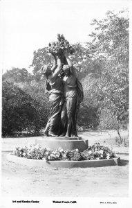 RPPC Art & Garden Center, Walnut Creek, CA Statue ca 1940s Vintage Postcard