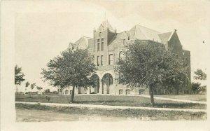 Berndt C-1910 High School Minden Nebraska RPPC Photo Postcard 20-3792