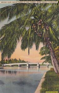 Florida Miami Beach Bridge Over Indian Creek At 41st Street