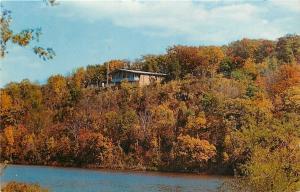 Rock River~Harrison Dining Hall~Northern Illinois Univ~1963 Mid-Autumn Trees PC