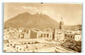 Postcard Vista Rarcial, Partial View, Monterrey NL Mexico RPPC Y62