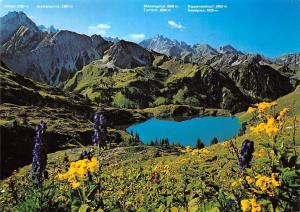 Kleinod in den Allgaeuer Alpen Seealpsee bei Oberstdorf Lake Mountains
