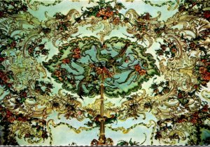 Spain Madrid Royal Palace Gasparini's Hall Ceiling