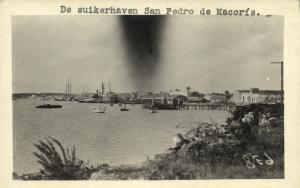 dominican republic, SAN PEDRO DE MACORÍS, Sugar Harbour (1910s) RPPC