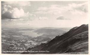 RP Postcard Ambleside & Windermere from Red Screes above Kirkstone Pass #L
