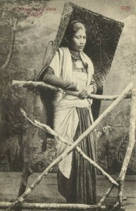 nepal, Nepalese Coolie Woman, Necklace Jewelry (1910s) Postcard