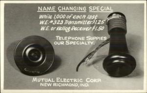 New Richmond Indiana IN Mutual Electric Corp TELEPHONE PARTS RPPC myn